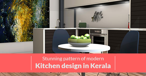 Stunning-pattern-of-modern-kitchen-design-in-Kerala