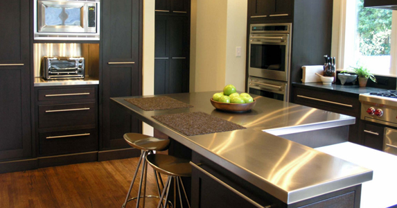 Sleek Kitchen Counters