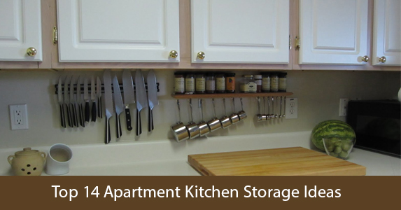 14 Top Small Apartment Kitchen Storage Ideas | Infographics